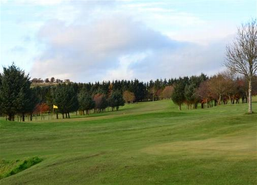 Reverse view of the 8th hole looking from behind the Green